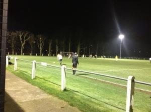 Villa left back Joe Johnson prepares to take a free kick