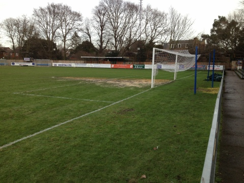 The pitch at Hampton & Richmond Borough, which has seen several postponements recently