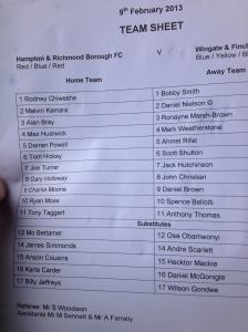 The lineups