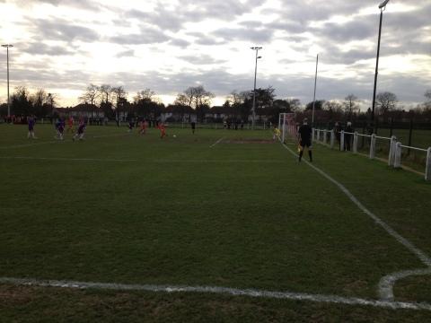 Jamie Hawkins slots home his penalty to make it 1-0