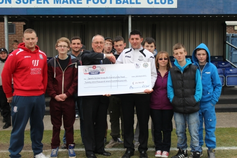 Weston receive their grant from Dennis Strudwick