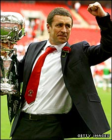 Daish with the FA Trophy