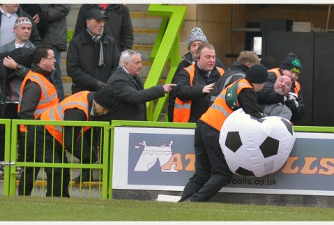 Pictures by Duncan Young, 07-02-2015. SPORTS. Forest Green V Grimsby Town.