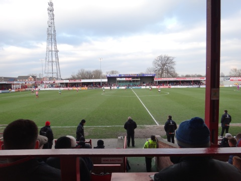 Alty look to launch a second half attack as the managers watch on