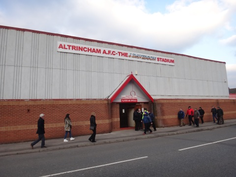 Frustration: Alty fans exit the J Davidson Stadium after their side's humbling