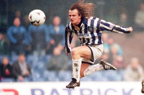 In action for West Bromwich Albion