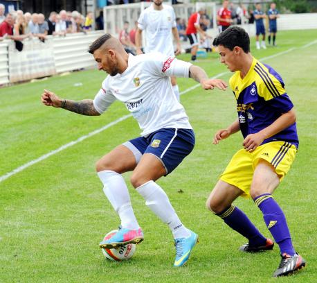 Lewis in action for Yate Town