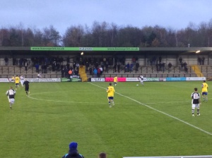 Hednesford build from the back in search of an opening goal.