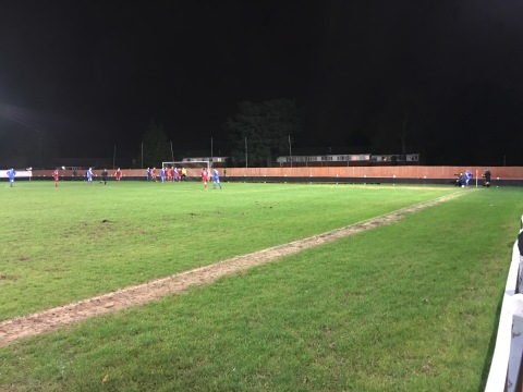 Binfield take a corner during their dominant first half spell