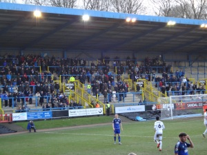 A frustrated South Stand faithful watch on with the game at 0-2.