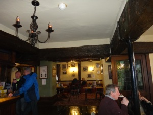 The historic interior of the Bate Hall Pub on quaint Chestergate.